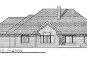 Traditional Style House Plan - 3 Beds 2 Baths 2266 Sq/Ft Plan #70-360 Exterior - Rear Elevation