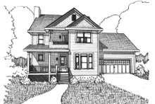 Country Exterior - Front Elevation Plan #79-258