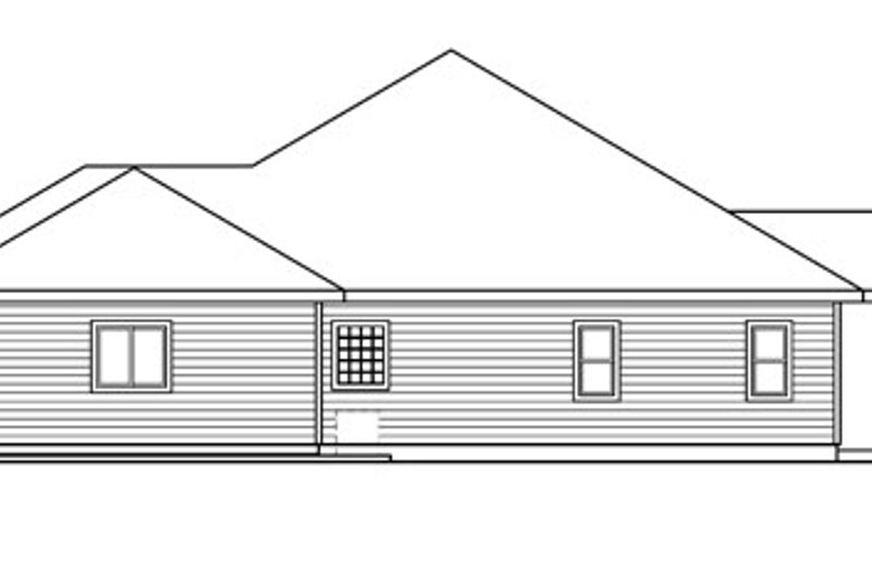 Ranch Exterior - Other Elevation Plan #124-672 - Houseplans.com
