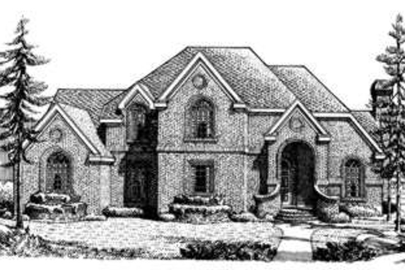 European Exterior - Front Elevation Plan #410-231