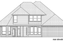 House Design - Traditional Exterior - Rear Elevation Plan #84-558