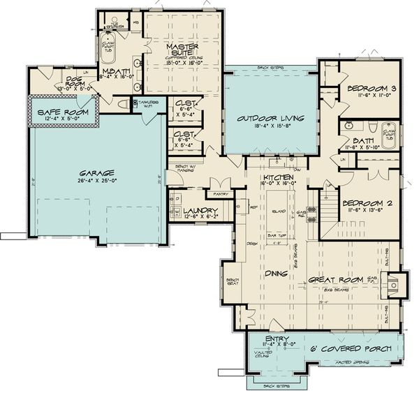 House Design - European Floor Plan - Main Floor Plan #923-167