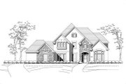 European Style House Plan - 5 Beds 4 Baths 4019 Sq/Ft Plan #411-831 Exterior - Front Elevation