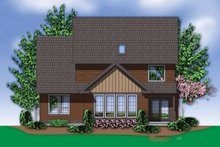 Dream House Plan - Traditional Exterior - Rear Elevation Plan #48-554