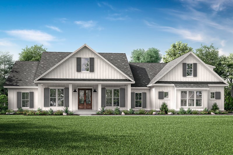 Craftsman Style House Plan - 4 Beds 3 Baths 2832 Sq/Ft Plan #430-201 Exterior - Front Elevation