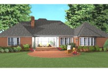 Dream House Plan - Southern Exterior - Rear Elevation Plan #406-137