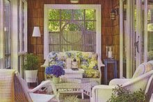 Cottage Exterior - Covered Porch Plan #481-10