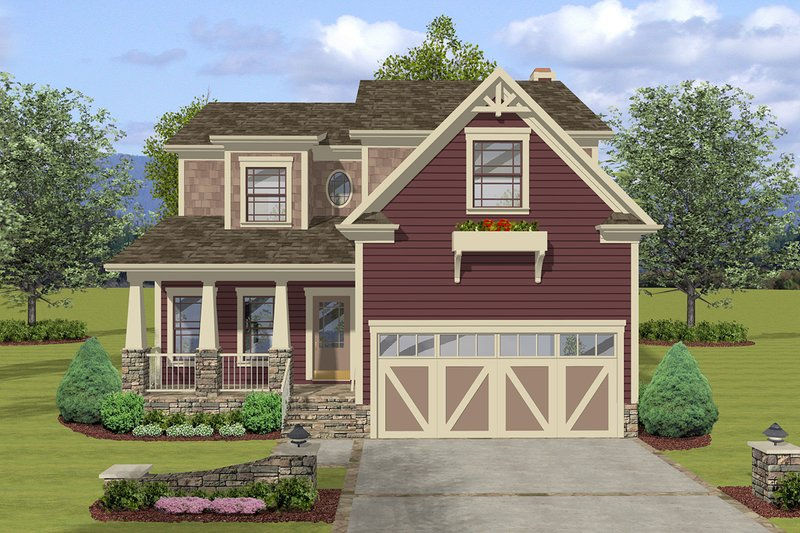 House Design - Craftsman Exterior - Front Elevation Plan #56-722