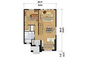 Contemporary Style House Plan - 3 Beds 2 Baths 1884 Sq/Ft Plan #25-4538 Floor Plan - Main Floor Plan