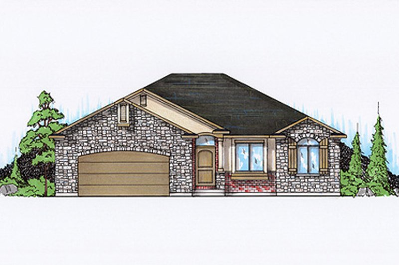 Dream House Plan - Country Exterior - Front Elevation Plan #5-240