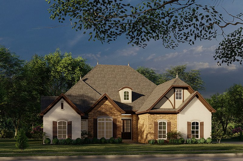 House Plan Design - European Exterior - Front Elevation Plan #923-28