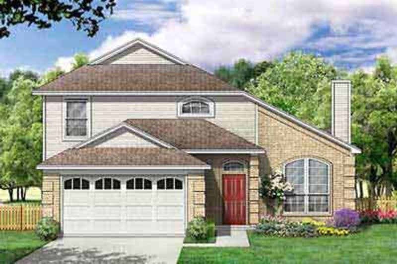 Traditional Exterior - Front Elevation Plan #84-211 - Houseplans.com