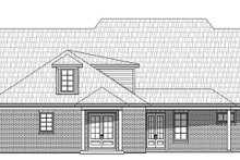 European Exterior - Rear Elevation Plan #932-28