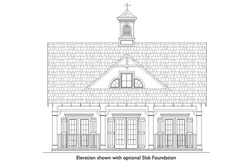 Beach Exterior - Front Elevation Plan #45-215 - Houseplans.com