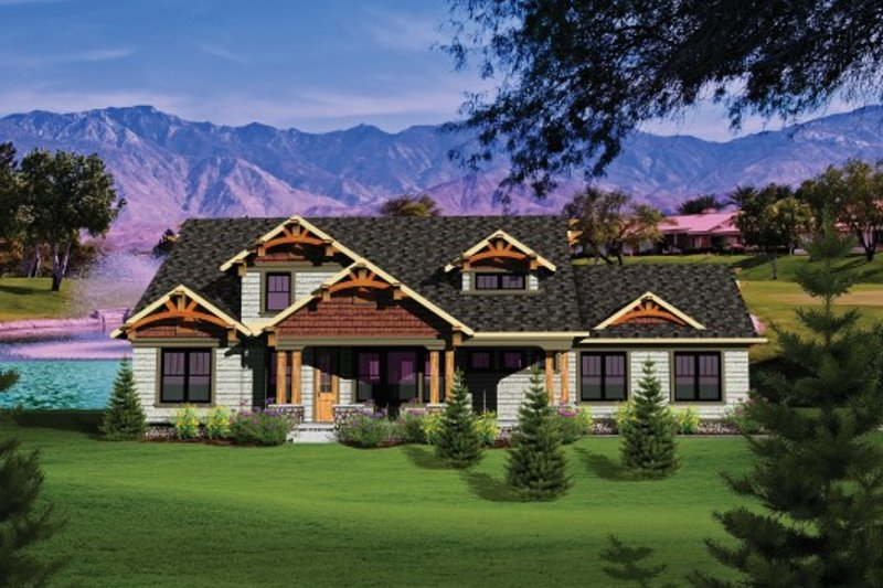 Dream House Plan - Craftsman Exterior - Front Elevation Plan #70-1106