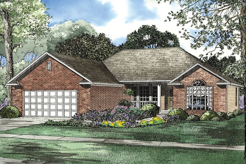 Dream House Plan - Ranch Exterior - Front Elevation Plan #17-3210