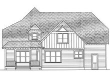 Tudor Exterior - Rear Elevation Plan #413-139