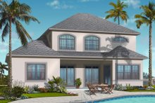 Mediterranean Exterior - Rear Elevation Plan #23-2246