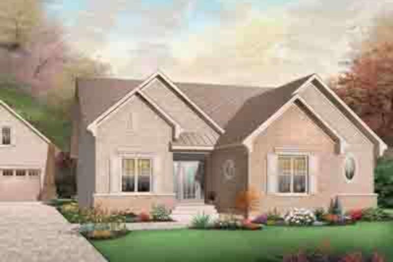 Cottage Exterior - Front Elevation Plan #23-634 - Houseplans.com