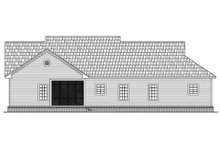 House Plan Design - Country Exterior - Rear Elevation Plan #21-149
