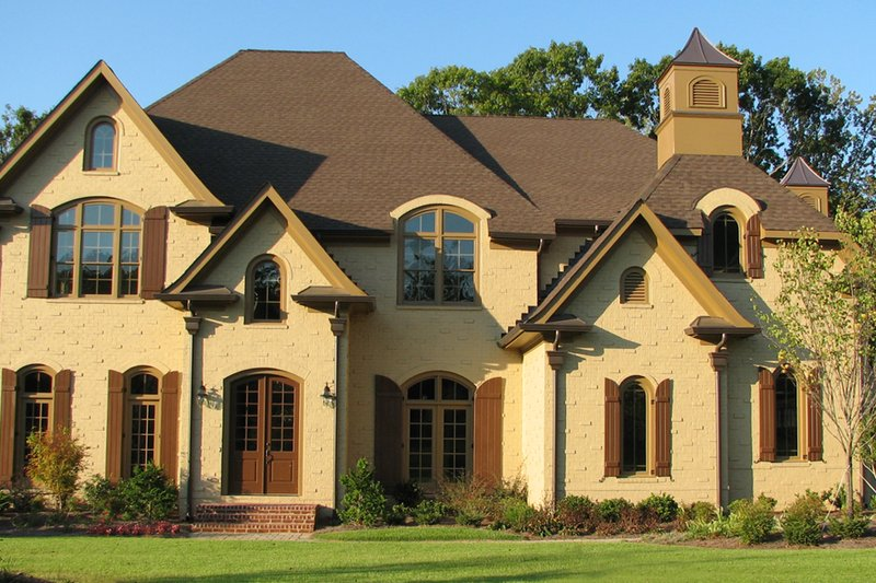 Traditional Style House Plan - 5 Beds 5 Baths 5264 Sq/Ft Plan #54-413 Exterior - Front Elevation