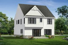 House Plan Design - Farmhouse Exterior - Rear Elevation Plan #1057-28