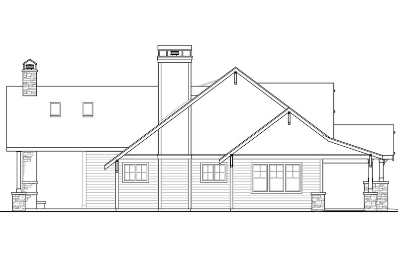 Craftsman Exterior - Other Elevation Plan #124-925 - Houseplans.com