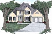 Traditional Style House Plan - 3 Beds 2.5 Baths 1516 Sq/Ft Plan #129-114 Exterior - Front Elevation