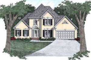 Architectural House Design - Traditional Exterior - Front Elevation Plan #129-114