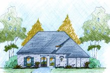 Home Plan - European Exterior - Front Elevation Plan #36-506