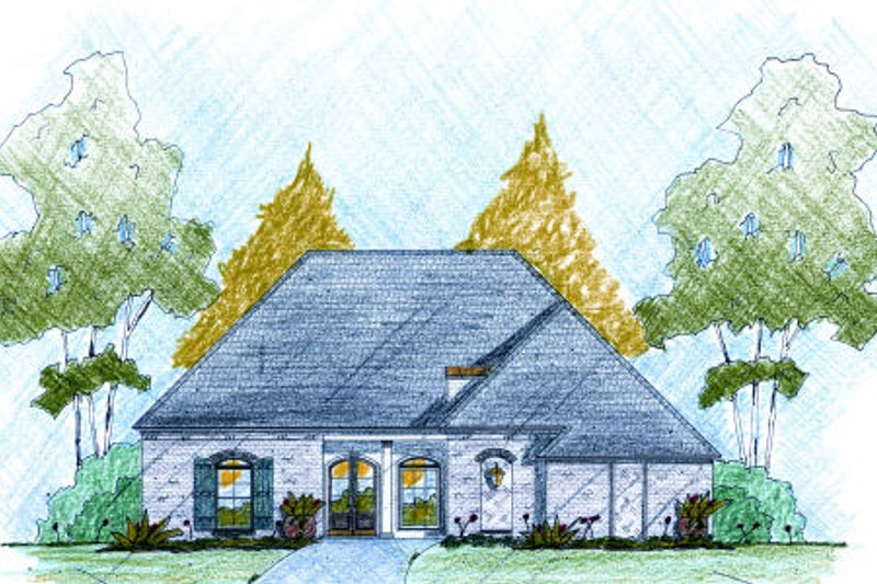 European Exterior - Front Elevation Plan #36-506