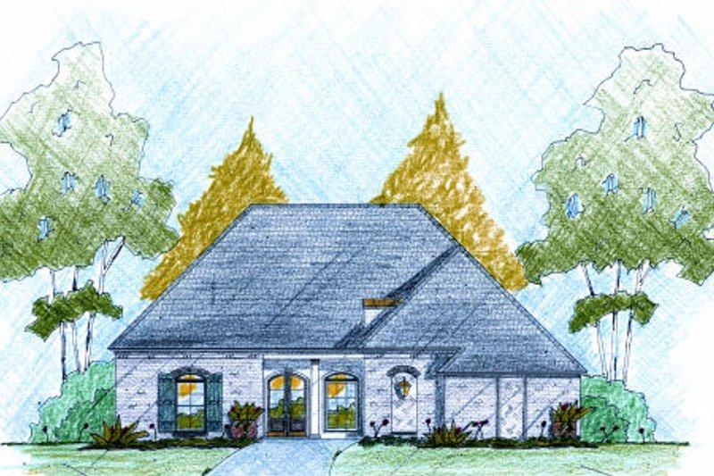 European Exterior - Front Elevation Plan #36-506 - Houseplans.com