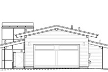 Modern Exterior - Rear Elevation Plan #895-110