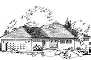 Traditional Exterior - Front Elevation Plan #18-9054