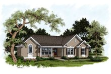Home Plan Design - Traditional Exterior - Front Elevation Plan #56-166