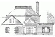Colonial Style House Plan - 4 Beds 3 Baths 3345 Sq/Ft Plan #137-108 Exterior - Rear Elevation