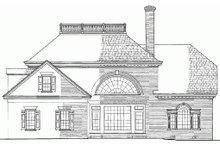 Colonial Exterior - Rear Elevation Plan #137-108