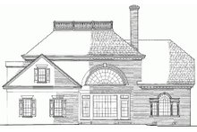 Dream House Plan - Colonial Exterior - Rear Elevation Plan #137-108