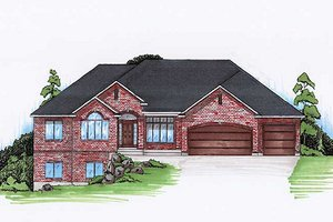 Architectural House Design - European Exterior - Front Elevation Plan #5-265