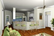 Southern Style House Plan - 3 Beds 2 Baths 1640 Sq/Ft Plan #44-168 Photo
