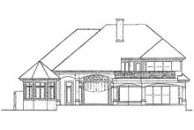 House Plan Design - Mediterranean Exterior - Rear Elevation Plan #930-106