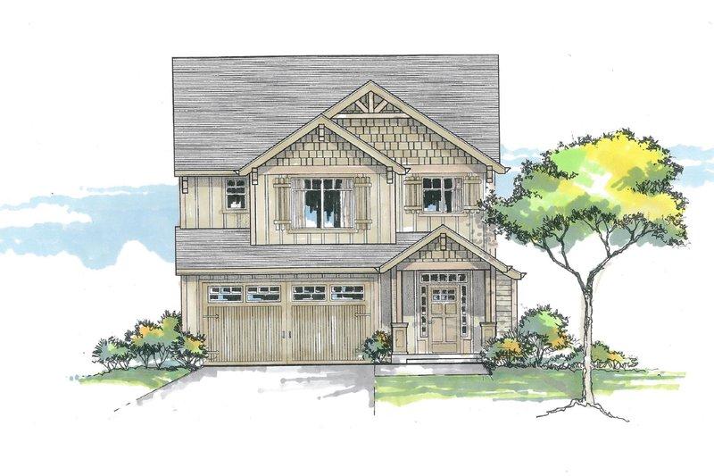 Craftsman Exterior - Front Elevation Plan #53-608