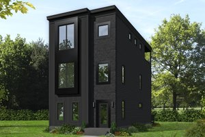 Contemporary Exterior - Front Elevation Plan #932-196