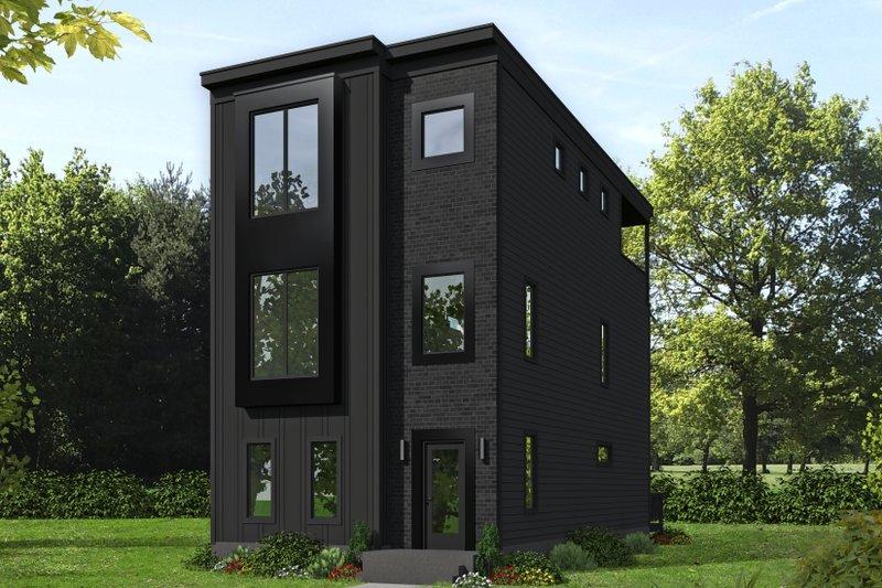 Home Plan Design - Contemporary Exterior - Front Elevation Plan #932-196