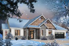 Architectural House Design - Ranch Exterior - Front Elevation Plan #23-2658