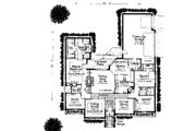 Colonial Style House Plan - 3 Beds 2.5 Baths 2353 Sq/Ft Plan #310-713 Floor Plan - Main Floor
