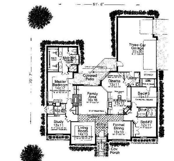 Colonial Floor Plan - Main Floor Plan #310-713