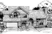 Traditional Style House Plan - 4 Beds 2.5 Baths 2463 Sq/Ft Plan #320-110 Exterior - Front Elevation