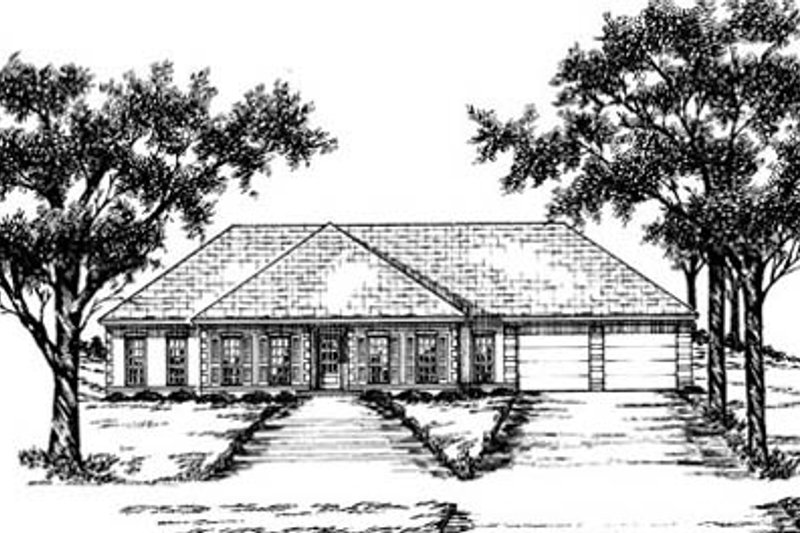 Traditional Exterior - Front Elevation Plan #36-183 - Houseplans.com