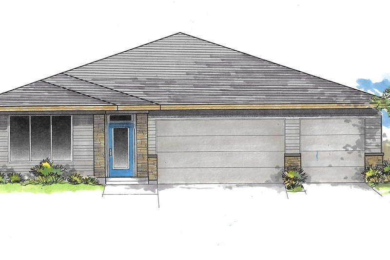 House Plan Design - Craftsman Exterior - Front Elevation Plan #53-641
